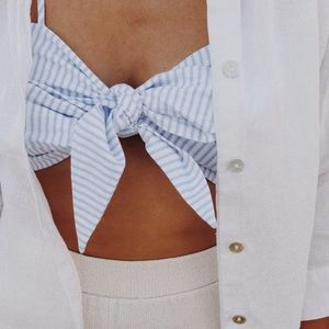Tops - Stripe cropped top.